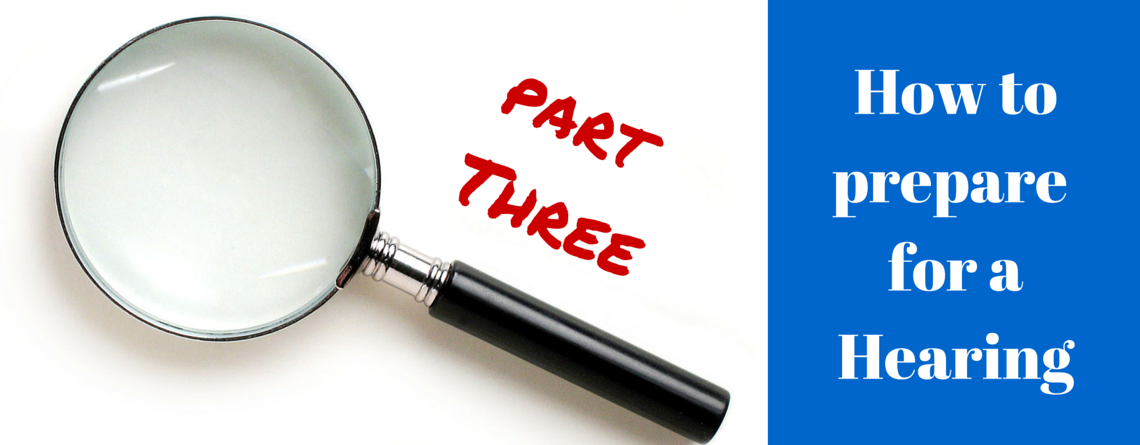 How to prepare for a Disciplinary Hearing – Part 3